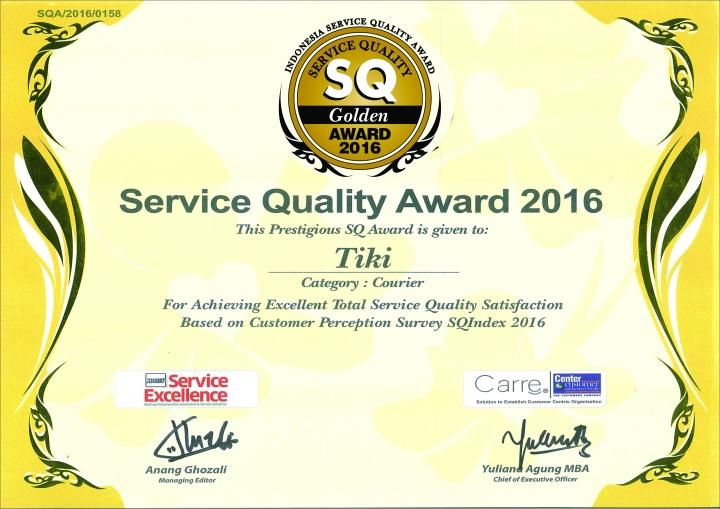 SQ 2016 Award